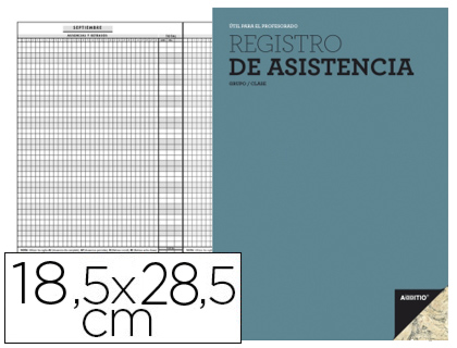 Bloc registro de asistencia Additio para