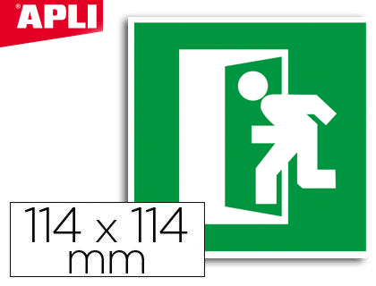 Etiqueta adhesiva Apli de señalizacion simbolo