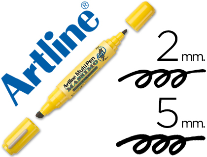 Rotulador Artline multipen color negro doble