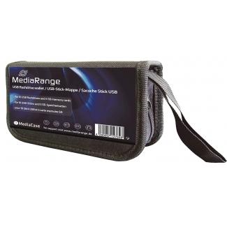 MediaRange Box99 - Estuche de nylon color negro para pendrives y tarjetas de memoria