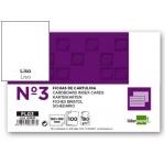 Liderpapel FL03 - Ficha de cartulina lisa, tamaño 100 x 150 mm Nº 3, paquete de 100