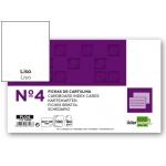 Liderpapel FL04 - Ficha de cartulina lisa, tamaño 125 x 200 mm Nº 4, paquete de 100
