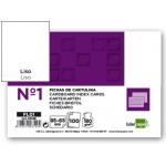 Liderpapel FL01 - Ficha de cartulina lisa, tamaño 65 x 95 mm Nº 1, paquete de 100
