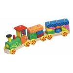 Tren con ruedas de madera