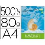 Papel fotocopiadora Nautilus tamaño A4 80 gramos paquete de 500 hojas 100% reciclado