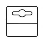 3L Office 180-50115 - Etiqueta colgador adhesiva de pvc, tamaño 50x50 mm, pack de 1.000 unidades