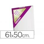 Bastidor lidercolor 12f lienzo grapado lateral algodon 100% marco pawlonia 1,8x3,8 cm bordes madera 61x50 cm