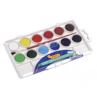 Jovi 800/12 - Acuarela, estuche de plástico, 12 colores