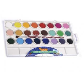 Jovi 800/24 - Acuarela, estuche de plástico, 24 colores