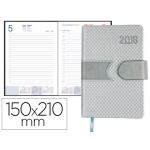Agenda anillas Liderpapel lidhor 15x21 cm día página color gris papel 70 gr