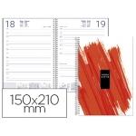 Agenda de espiral Liderpapel syros 15x21 cm día página simple espiral color rojo