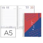 Agenda tamaño A5 día página con portada personalizable
