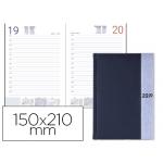 Agenda encuadernada Liderpapel chatzi 15x21 cm día página color azul papel 70 grs