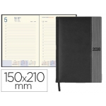 Agenda encuadernada Liderpapel chatzi 15x21 cm día página color negro papel 70 grs