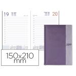 Agenda encuadernada Liderpapel chatzi 15x21 cm día página color violeta papel 70 grs