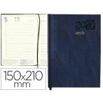 Agenda encuadernada Liderpapel corfu 15x21 cm día página color azul papel 60 gr