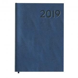 Liderpapel Corfu - Agenda, tamaño 15x21 cm, impresión día página, encuadernada, color azul