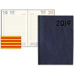 Agenda encuadernada Liderpapel corfu 15x21 cm día página color negro papel 60 gr texto en catalan