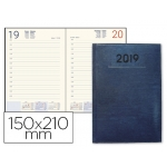 Agenda encuadernada Liderpapel creta 15x21 cm día página color azul papel 70 grs