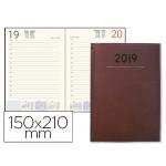 Agenda encuadernada Liderpapel creta 15x21 cm día página color burdeos papel 70 grs