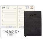 Agenda encuadernada Liderpapel creta 15x21 cm día página color negro papel 70 grs