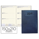 Agenda encuadernada Liderpapel creta 15x21 cm semana vista color azul papel 70 grs ahuesado