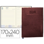 Agenda encuadernada Liderpapel creta 15x21 cm semana vista color marrón oscuro papel 70 grs
