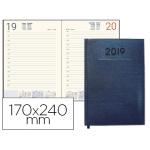 Agenda encuadernada Liderpapel creta 17x24 cm día página color azul papel 70 grs