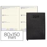 Agenda encuadernada Liderpapel creta 8x15 cm semana vista color negro papel 70 grs