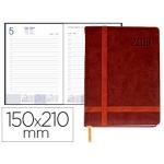 Agenda encuadernada Liderpapel eyion 15x21 cm día página color marron papel 70 gr