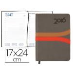 Agenda encuadernada Liderpapel hydra 17x24 cm día página color gris papel 70 grs