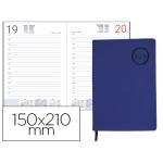 Agenda encuadernada Liderpapel kilkis 15x21 cm día página color azul papel 70 gr/m2