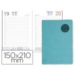 Agenda encuadernada Liderpapel kilkis 15x21 cm día página color turquesa papel 70 grs