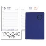 Agenda encuadernada Liderpapel kilkis 17x24 cm día página color azul papel 70 gr/m2