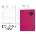 Agenda encuadernada Liderpapel kilkis 17x24 cm día página color rosa papel 70 grs