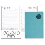 Agenda encuadernada Liderpapel kilkis 17x24 cm día página color turquesa papel 70 grs