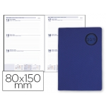 Agenda encuadernada Liderpapel kilkis 8x15 cm semana vista color azul papel de 70 gr/m2