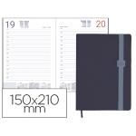 Agenda encuadernada Liderpapel larisis 15x21 cm día página color azul papel 70 grs
