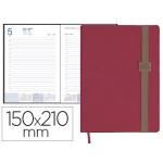 Agenda encuadernada Liderpapel larisis 15x21 cm día página color rosa papel 70 grs