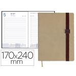 Agenda encuadernada Liderpapel larisis 17x24 cm día página color beige papel 70 grs