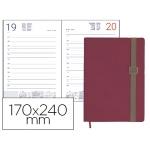 Agenda encuadernada Liderpapel larisis 17x24 cm día página color rosa papel 70 grs