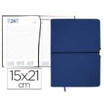 Agenda encuadernada Liderpapel leucade 15x21 cm día página color azul papel 70 grs