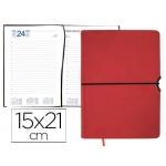 Agenda encuadernada Liderpapel leucade 15x21 cm día página color rojo papel 70 grs