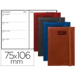 Agenda encuadernada Liderpapel milos 7,5x10,6 cm semana vista colores surtidos papel de 70 gr/m2