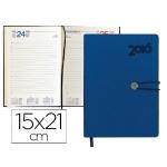 Agenda encuadernada Liderpapel minoa 15x21 cm día página color azul papel 70 gr/m2