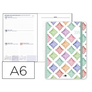 Agenda encuadernada Liderpapel rafina 10x15 cm semana vista papel 80 gr/m2