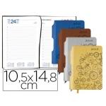 Agenda encuadernada Liderpapel symi mini día página colores surtidos papel 70 gr