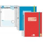 Agenda escolar Liderpapel college mini español ingles un día página tapa polipropileno portada personalizable