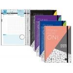 Agenda escolar Liderpapel college tamaño A5 español ingles un día página tapa cartón forrado espiral cierre con goma