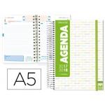 Agenda escolar Liderpapel college tamaño A5 español ingles un día página tapa polipropileno portada personalizable